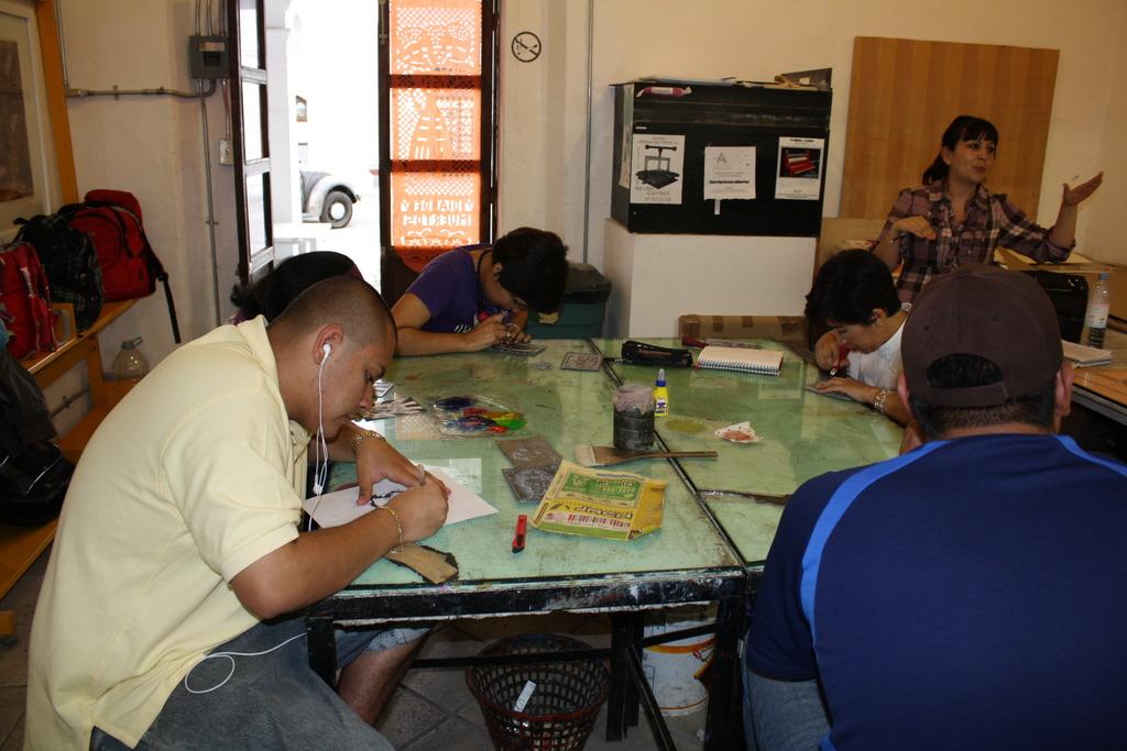 Public Art Team working on the design