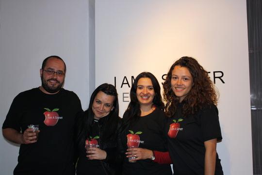 "Jorge, Nayeli, Ameet & Claudia at ""I Am A Sinner"""