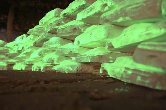 Glow in the dark car wall by De la Torre