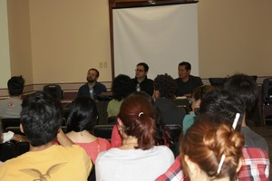 Round table with Jakup, Gustavo, and Ernesto