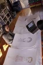 Kirsten Buick discussing Gloria Hernandez's work