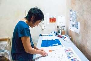 Resident Artist Ellen Bepp, Working in the Studio