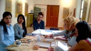 Resident Artist Marina Yerali, Teaching a Workshop
