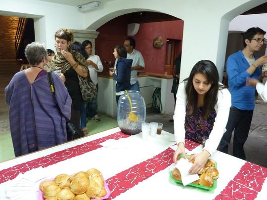 Enjoying the opening at Museo Textil de Oaxaca