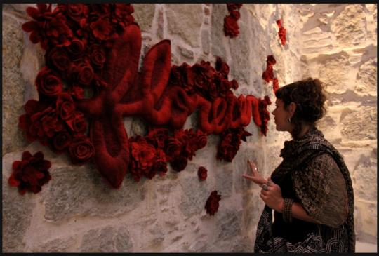 """""""Florece"""" by Jessica de Haas at Museo Textil"""