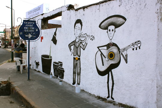 Mariachis singing on the street