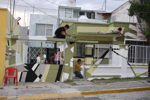 """Contemporary mural """"Campo Expandido XXVI"""""""