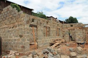 Roof construction beginning