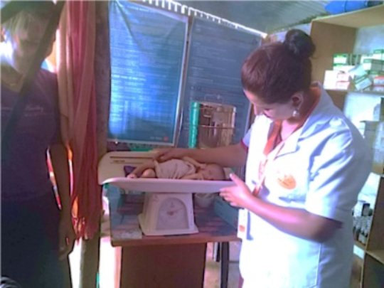 PHASE ANM with a newborn in Baruwa Clinic