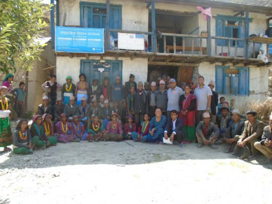 Community meeting in Maila