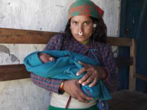 A mother after giving birth at the centre