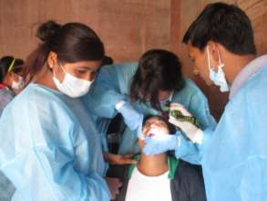 Junila attending a dental training session