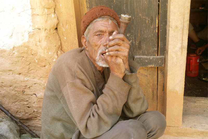 Smoking tobacco is common in Maila village