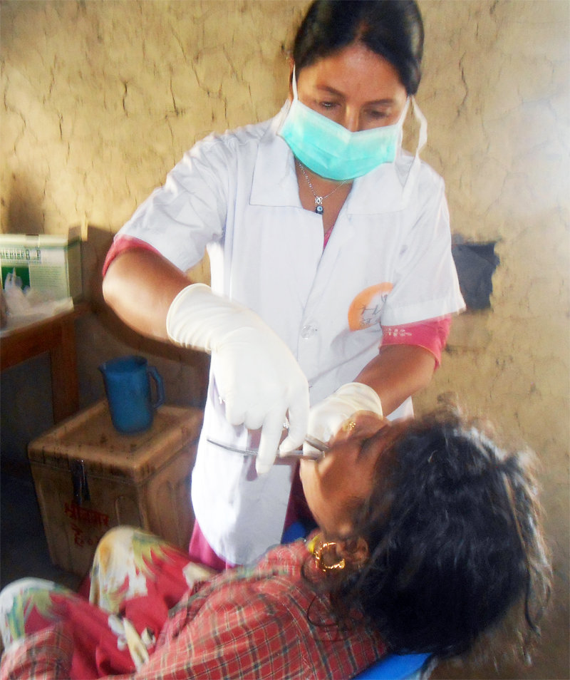 Tooth extraction in Maila sub health post