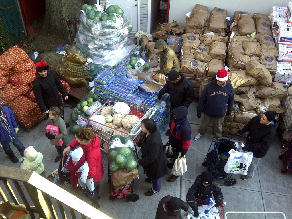 Tons of product distributed to needy families.