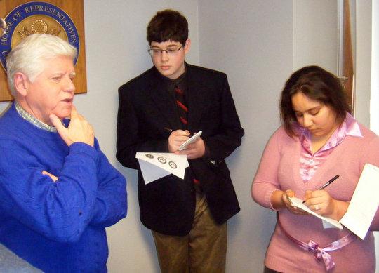 U.S. Rep. John Larson fields YJI questions