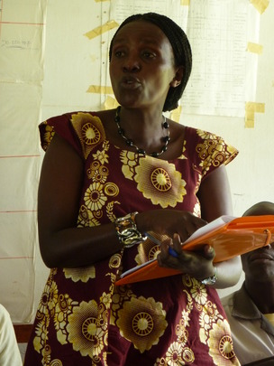 Community health worker during training.