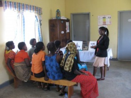 Expectant mothers receiving health education