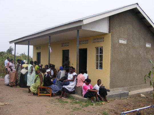 Women Waiting Outside Health Clinic