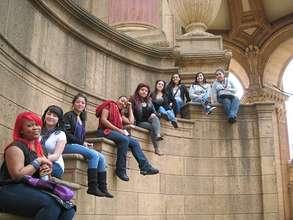 TLP Girls Outside the Exploratorium