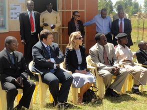 Mr. Julien Marx and officials at present site