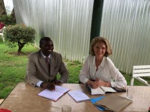 KTTI Principal Ernest Cheruiyot and Claire
