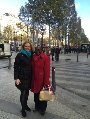 Claire & Margaret on Champs Elysees, Paris