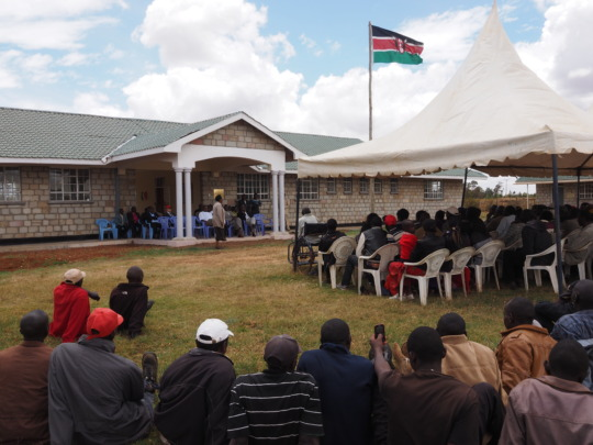 Opening of admin building at Koshyn