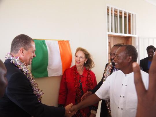 Irish Ambassador and local officials
