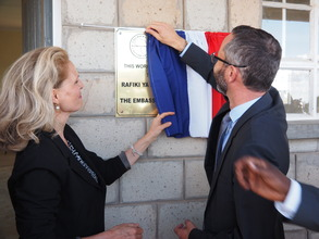 French Ambassador unveils plaque