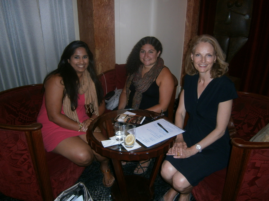 Shonali and Aliza with founder Claire Mathijsen.