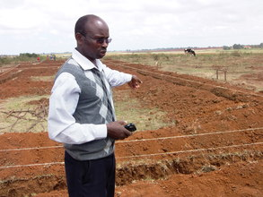 Mr Cheruiyot, contractor, at site