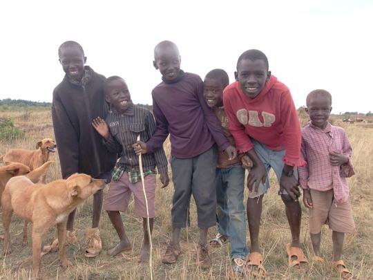 Happy excited children of Koshyn