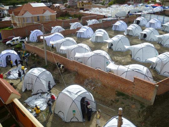ShelterBox tents in Bolivia
