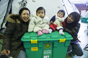 ShelterBoxes delivered in Japan