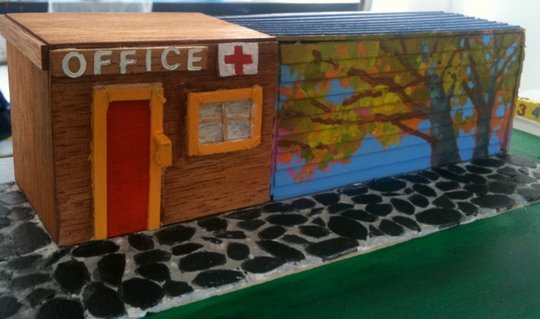 The plan to transform a container into an office