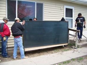 Solar heater installation at the Yellow Hawk's