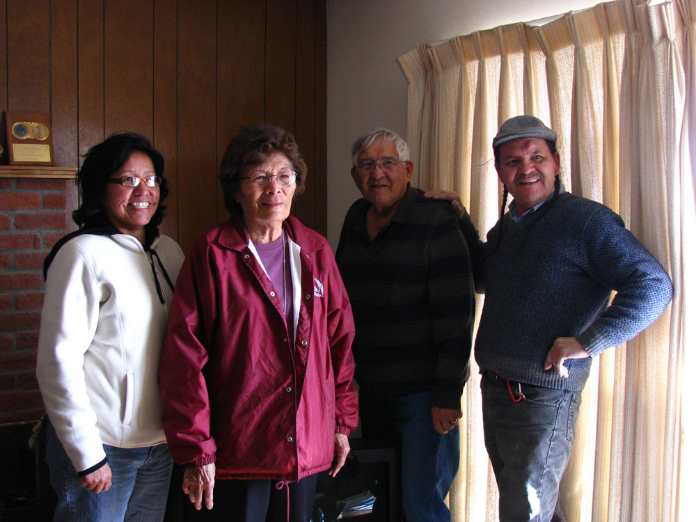 The Stokely Family with Henry Red Cloud (right)