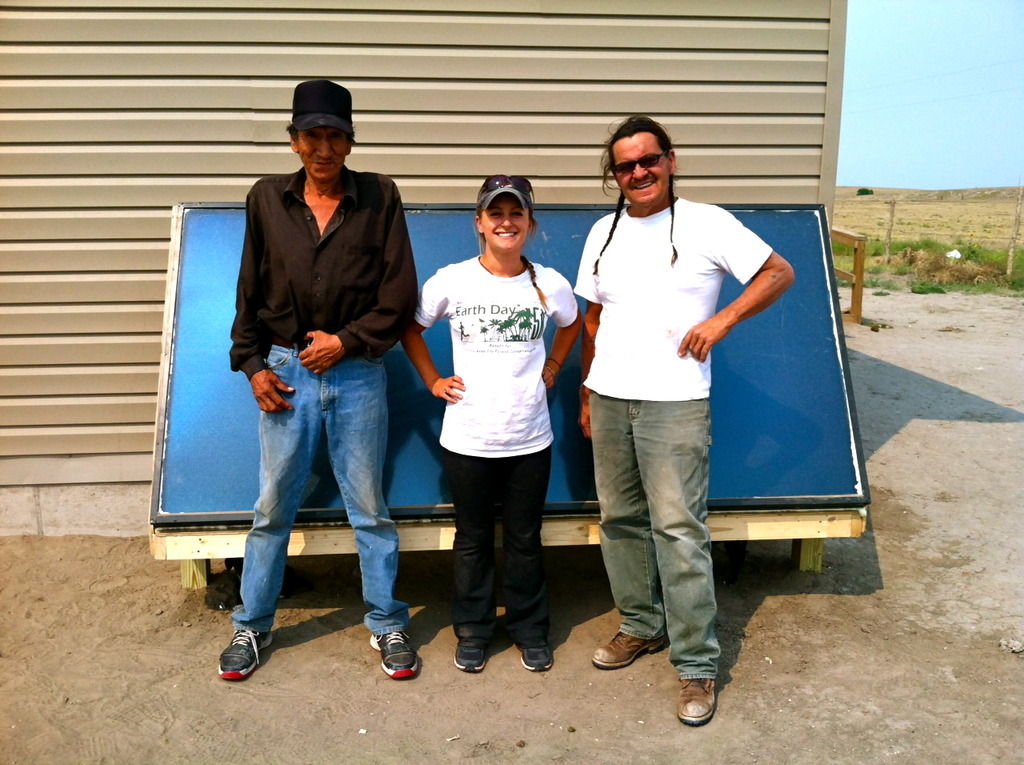 Solar heat for Lakota families
