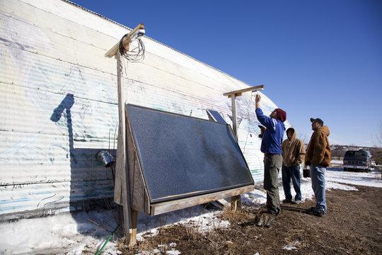Solar heating + green job training = bright future