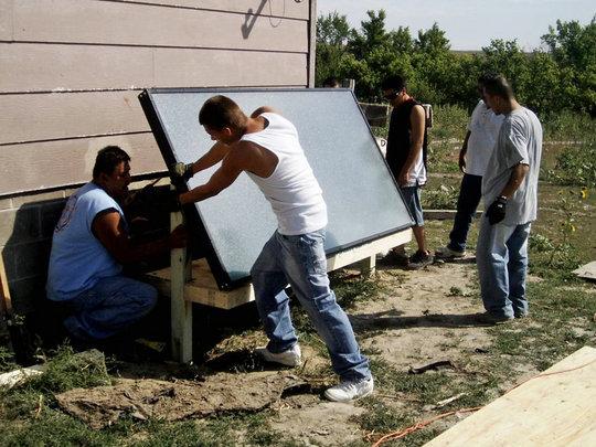Solar Heater Installation