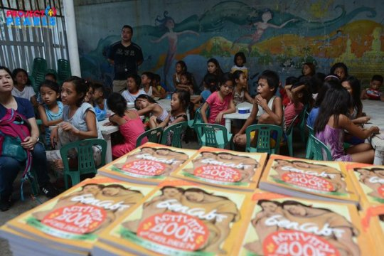 Books for Helping Land in Tondo, Manila