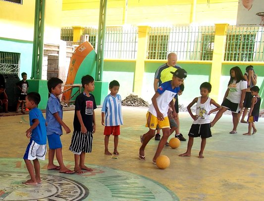 Soccer training by Fair Play for All Foundation