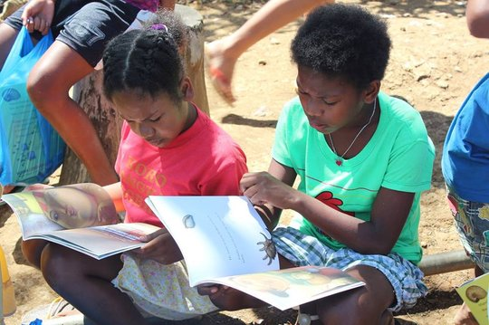 Aeta children in Bataan checking out the books