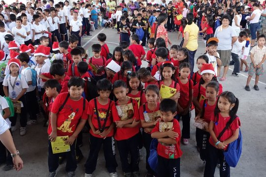 Bookgiving in San Pablo Public Elementary School