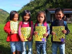 Beautiful children with beautiful books