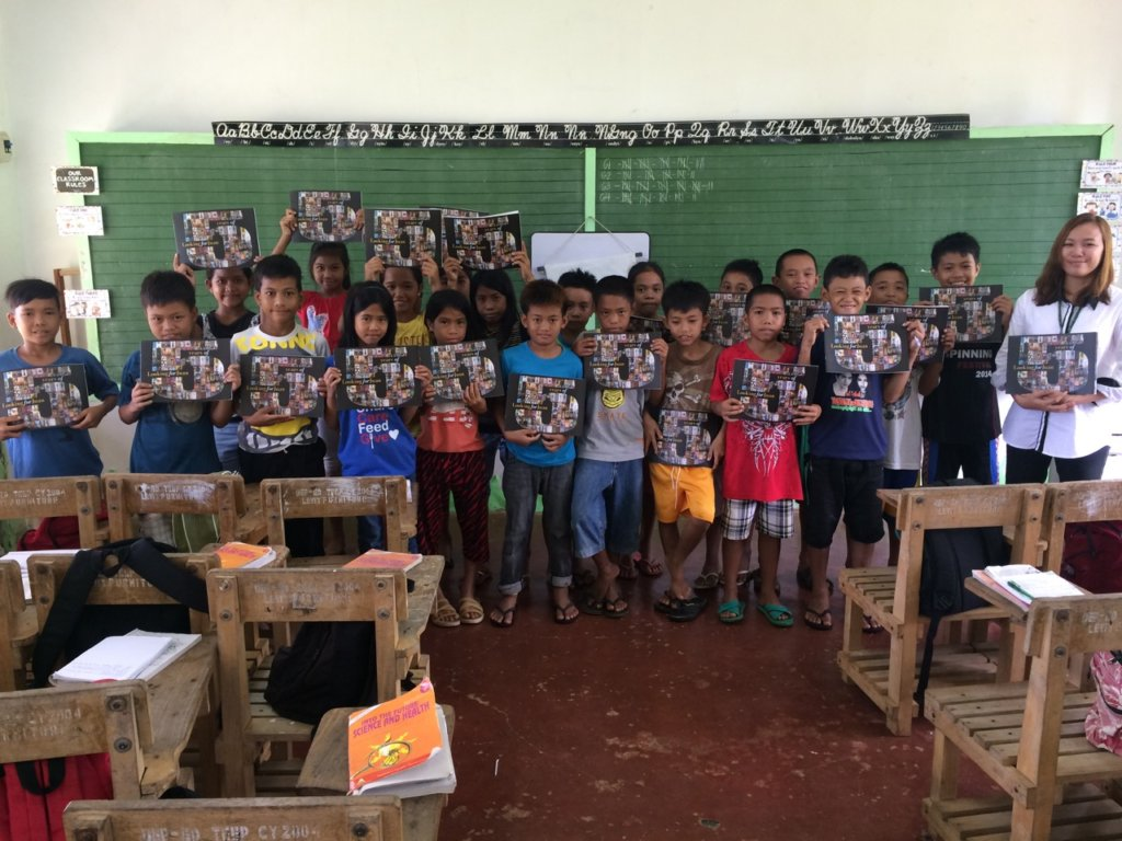 Books for students in Mambusao, Capiz