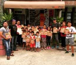 Books for kids from San Roque in Lopez, Quezon