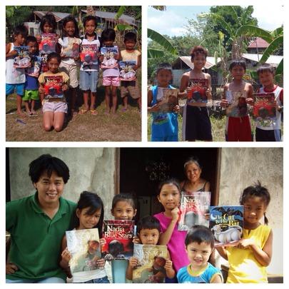 Bookgiving in Pila, Laguna.
