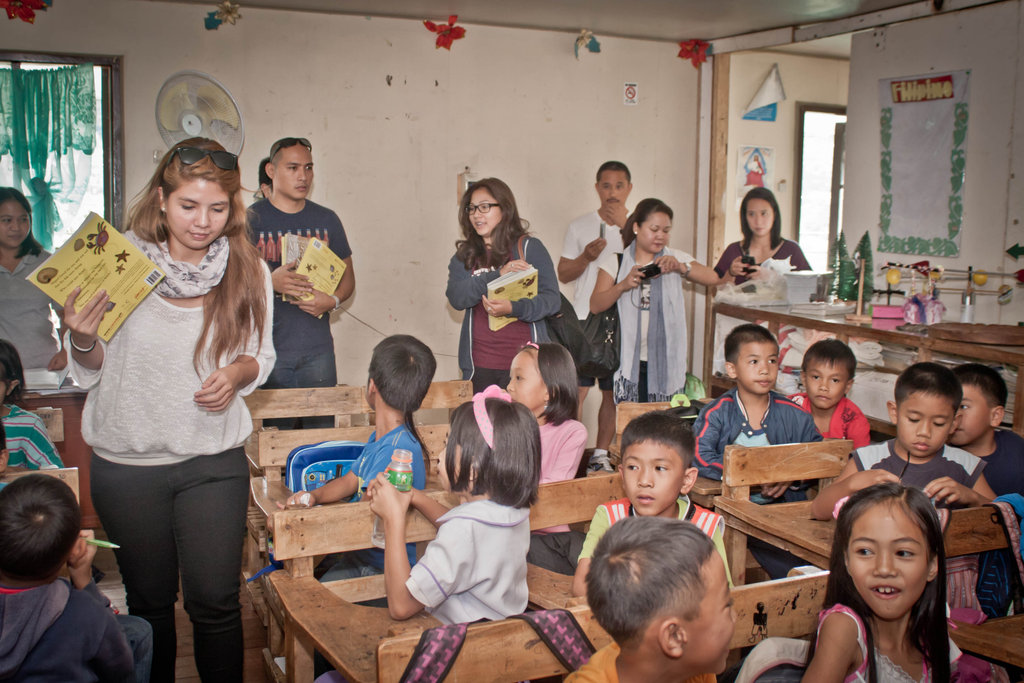 Rock-Ed distributing books in Baguio